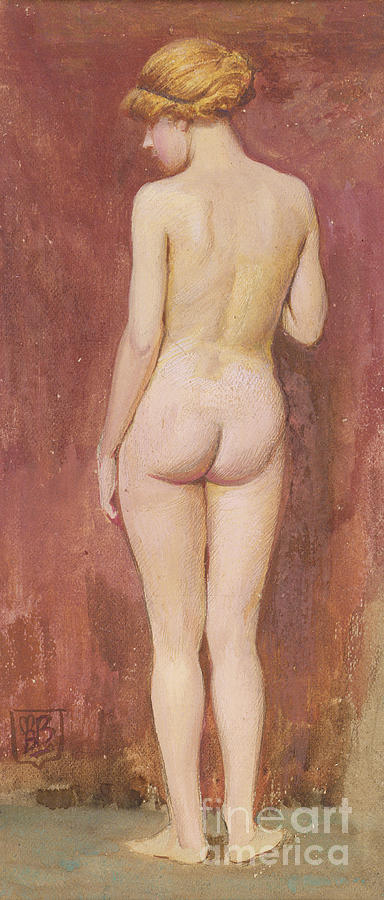 Nudes Painting - Study Of A Nude by Murray Bladon