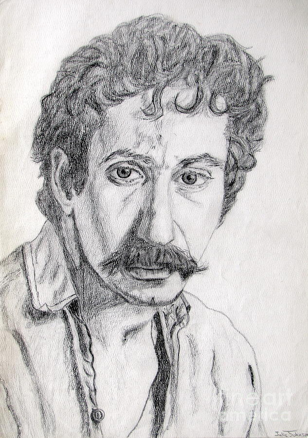 Jim Croce Drawing - Study Of Jim Croce by Julie Coughlin