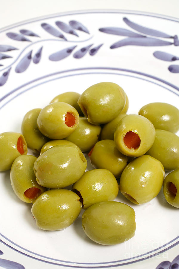 Olives Photograph - Stuffed Green Olives by Gaspar Avila