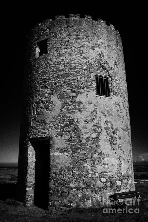 Remains Photograph - Stump Remains Of Portaferry Windmill On Windmill Hill Portaferry Ards Peninsula County Down  by Joe Fox
