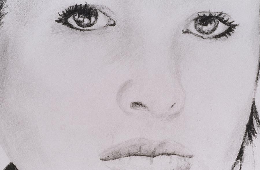 Eyes Drawing - Stunning by Nik English