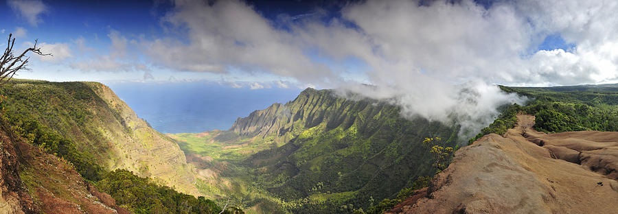 Beautiful Photograph - Stunning Panorama Of The Napali Coast In Kauaii by Sebastien Coursol