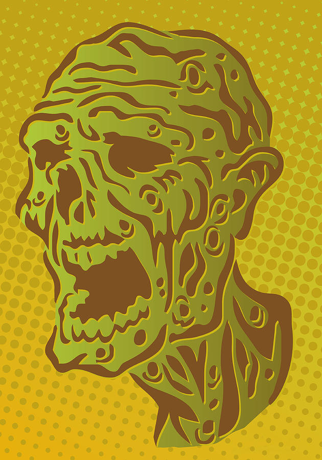 Stylized Zombie Digital Art by Sam Morrison