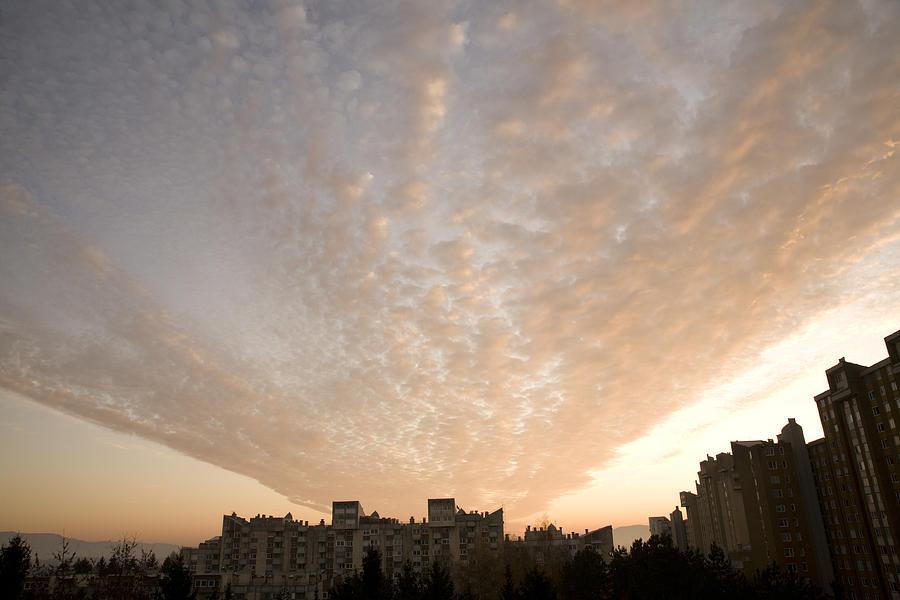Cloud Photograph - Suburban Sunrise by Ian Middleton
