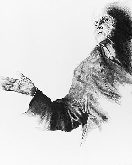 Giclee Drawing - Subway Prophet by Andrea  Ford