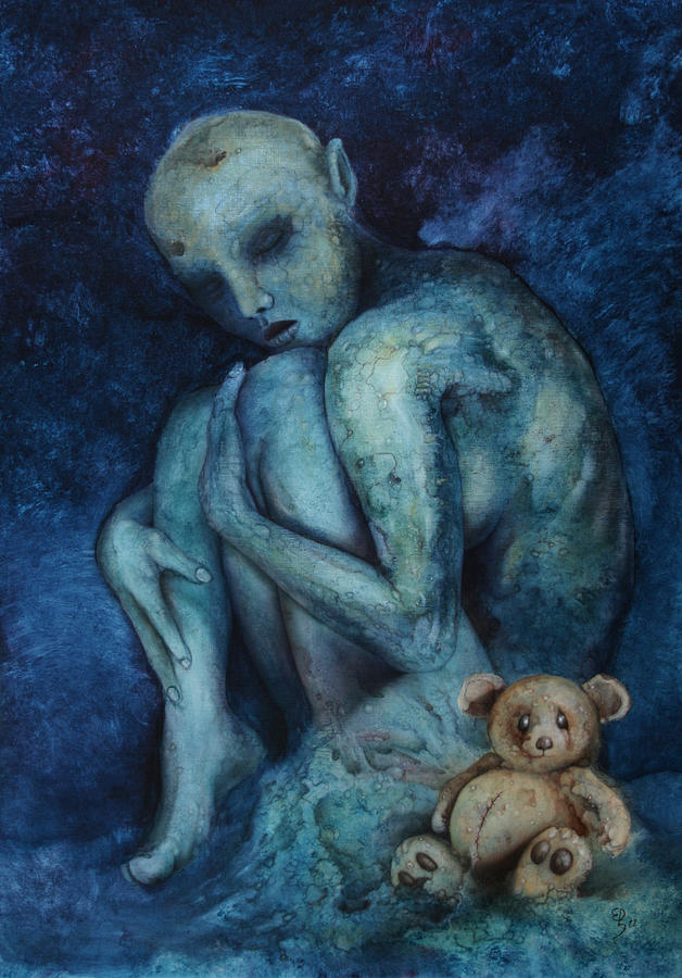 Blue Painting - Sudden infant death syndrome by Ed Schaap