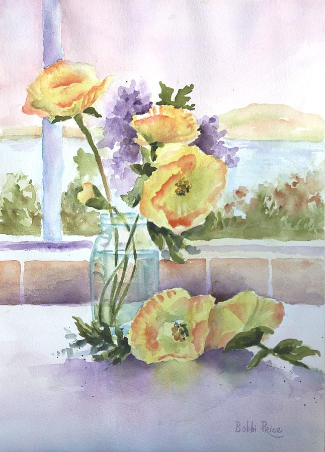 Watercolor Painting - Sues Poppies by Bobbi Price
