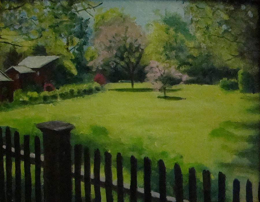 Landscape Painting - Sues Yard by Mark Haley