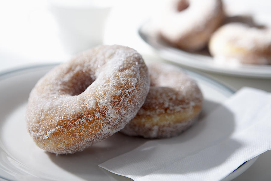 Horizontal Photograph - Sugar Coated Donuts by Bruce Law