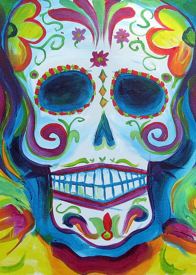 Sugar Skull Painting - Sugar Skull by Janet Oh