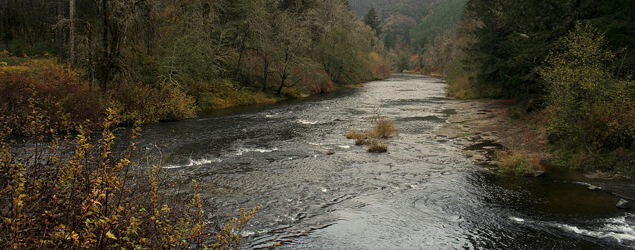 River Photograph - Suislaw River Panorama by Mary Gaines