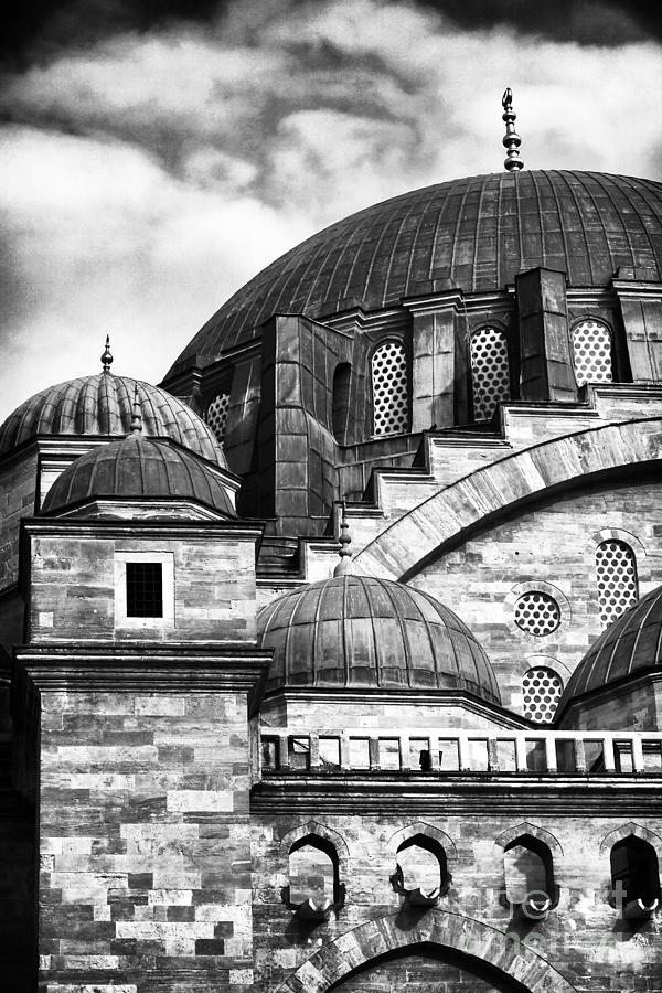 Domes Photograph - Suleymaniye Domes by John Rizzuto