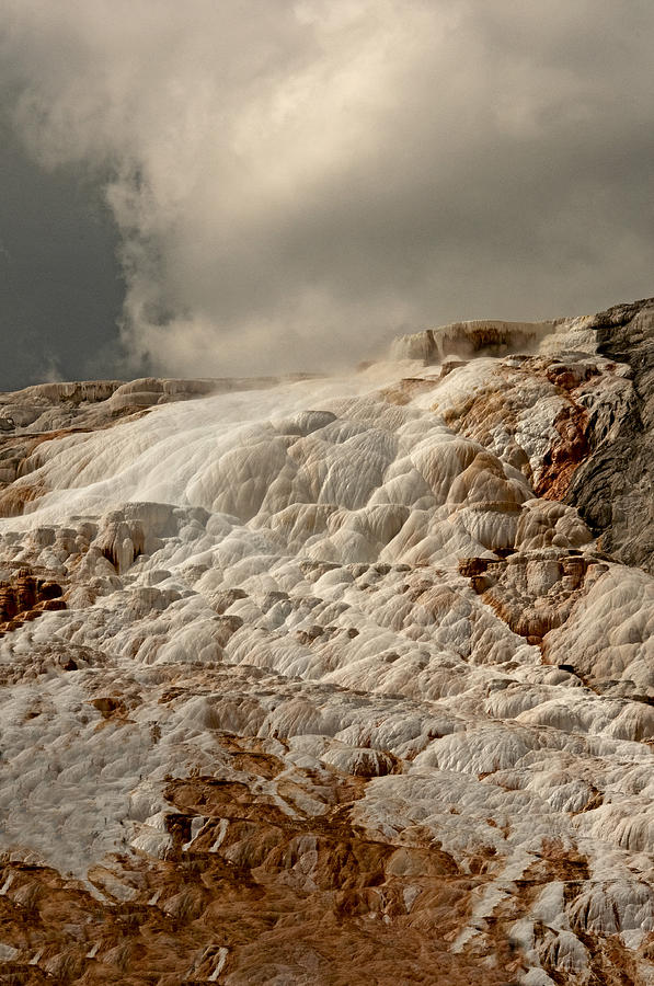 Sulfur Waterfall Photograph by Eric  Nelson