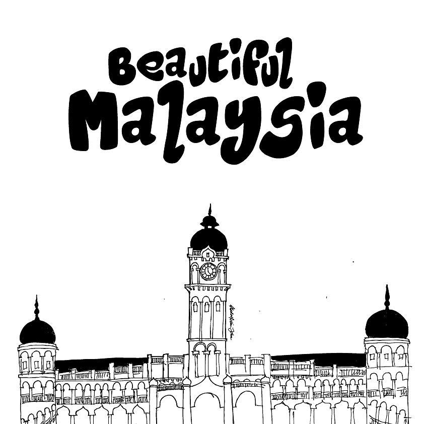 Sultan Abdul Samad Building Drawing By Abd Rahim