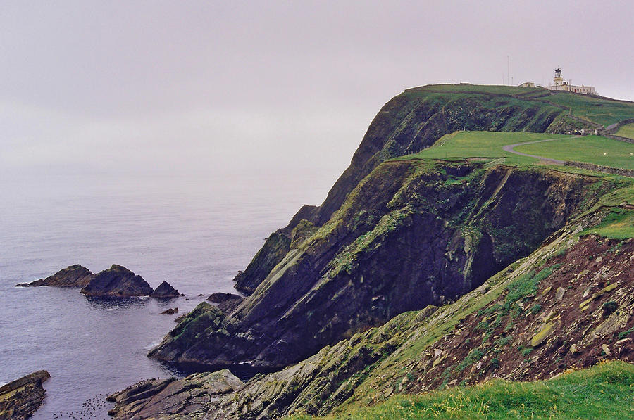 Cliffs Photograph - Sumburgh Head by Steve Watson