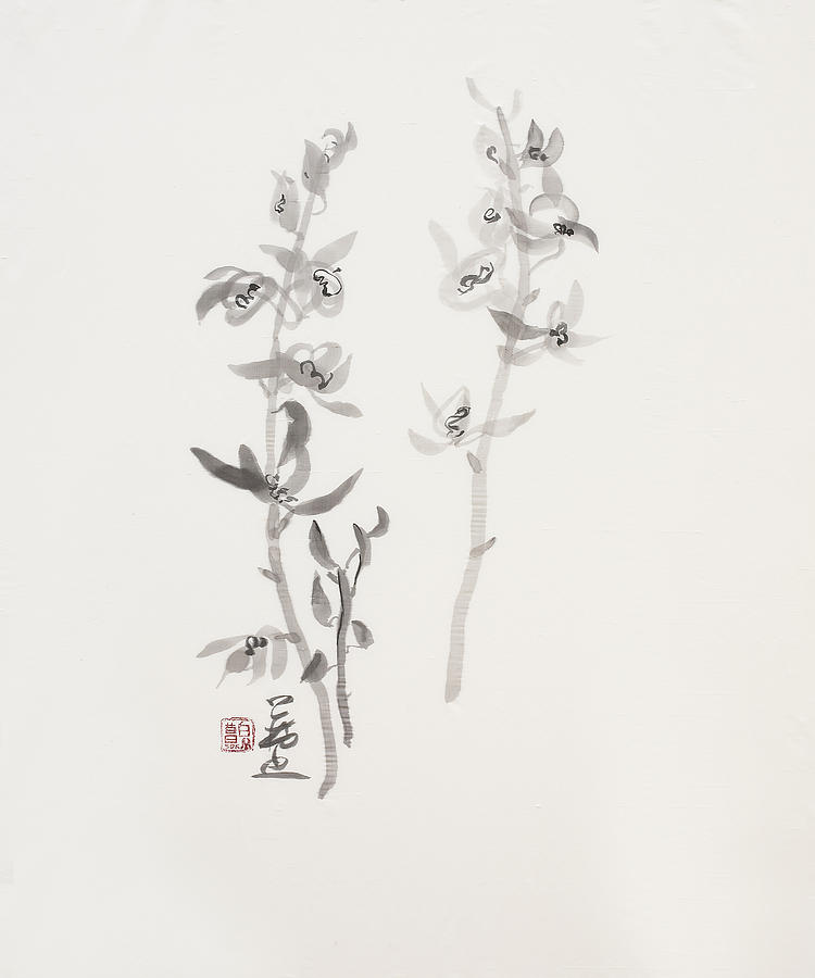 Ink Wash Painting Painting - Sumi-e Six by Greg Kopriva