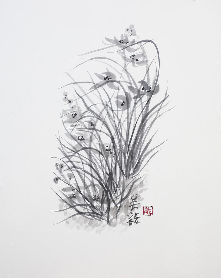 Ink Wash Painting Painting - Sumi-e Two by Greg Kopriva