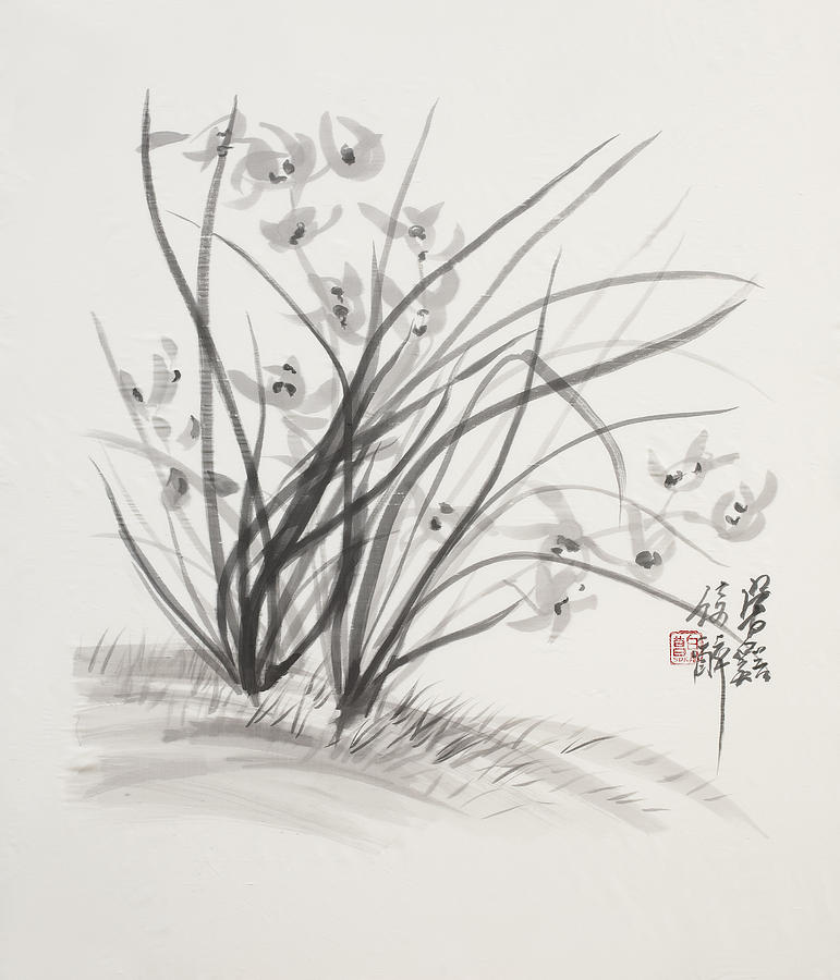 Ink Wash Painting Painting - Sumi_e Three by Greg Kopriva