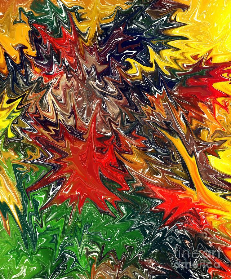 Yellow Digital Art - Summer Autumn by Chris Butler