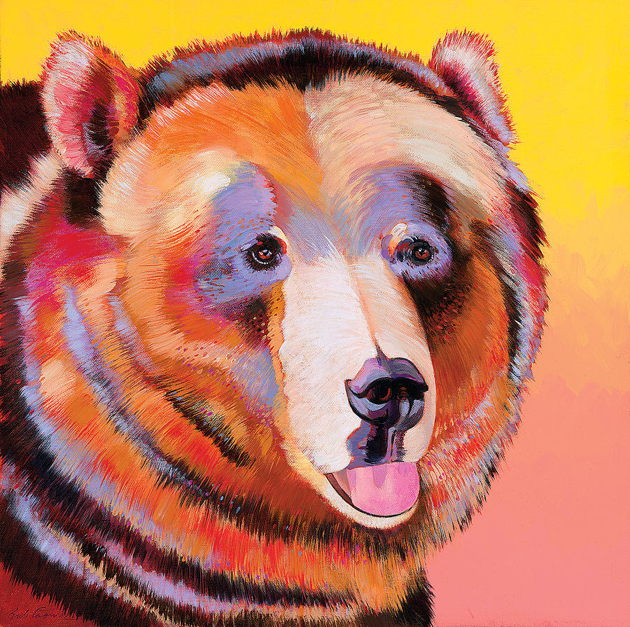 Abstract Realism Painting - Summer Bear by Bob Coonts