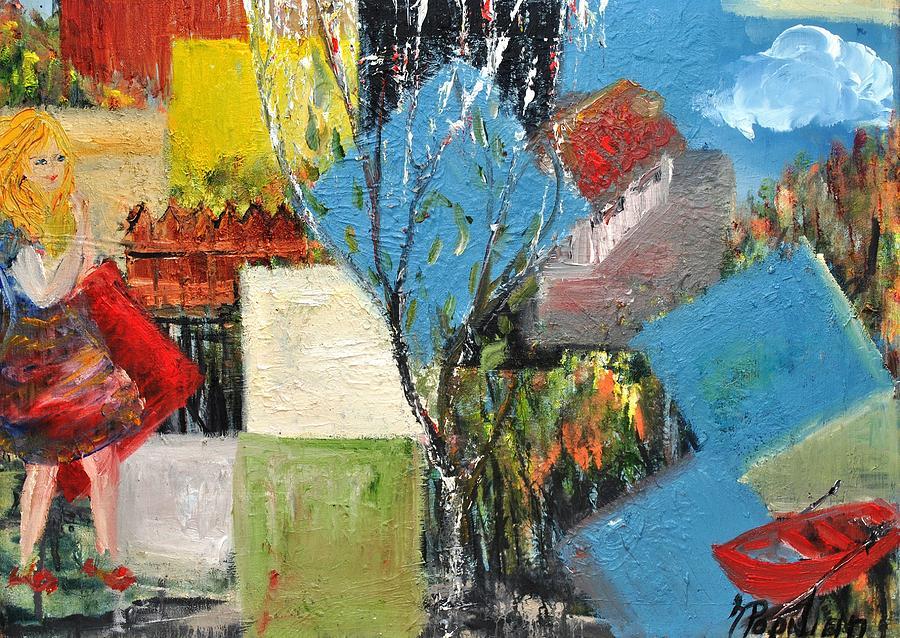 Holiday Painting - Summer Break by Evelina Popilian