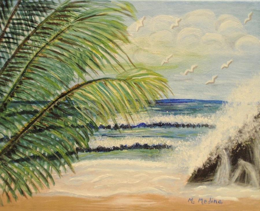 Beach Painting - Summer Breeze by Maria Medina