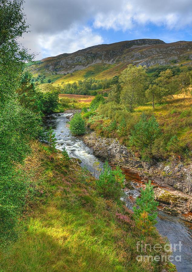 Scottish Landscape Photograph - Summer Colour In The Glen by John Kelly