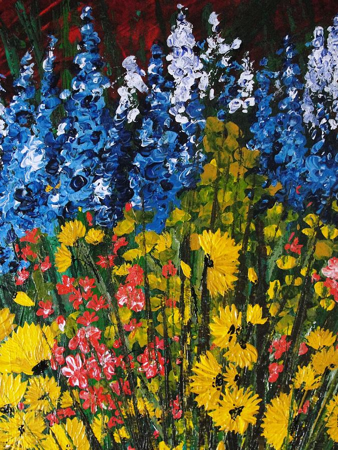 Pallet Knife Painting - Summer Colours by Shilpi Singh