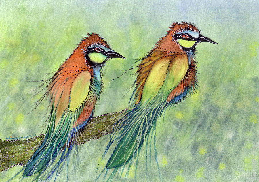 Summer Duet Painting by Lesley Smitheringale