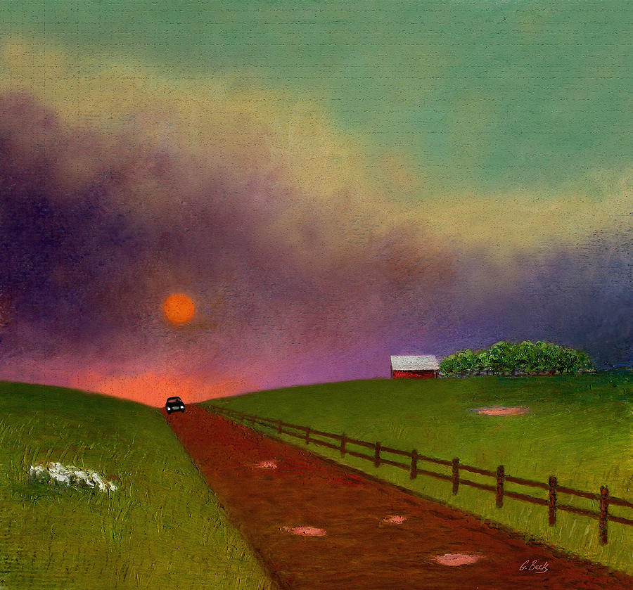 Summer Painting - Summer Dustup by Gordon Beck