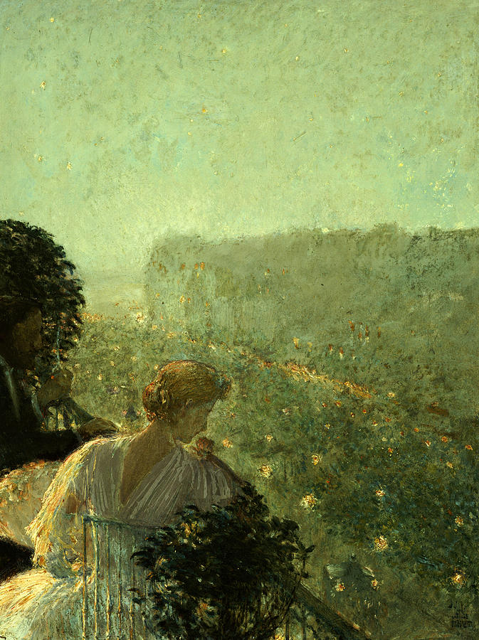 Summer Evening Painting - Summer Evening In Paris by Childe Hassam