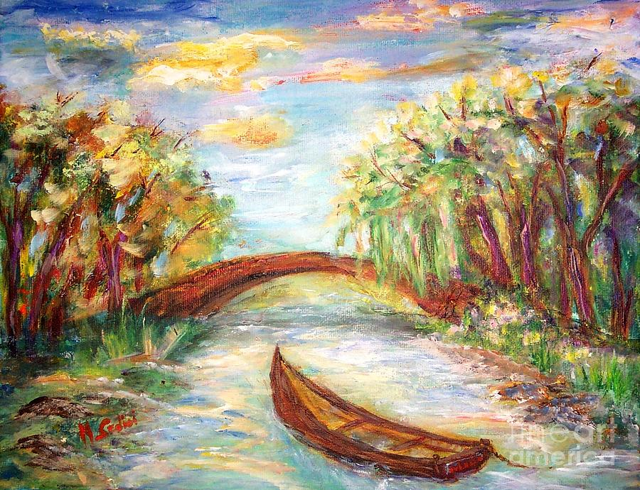 Mary Sedici Painting - Summer Impressions  by Mary Sedici
