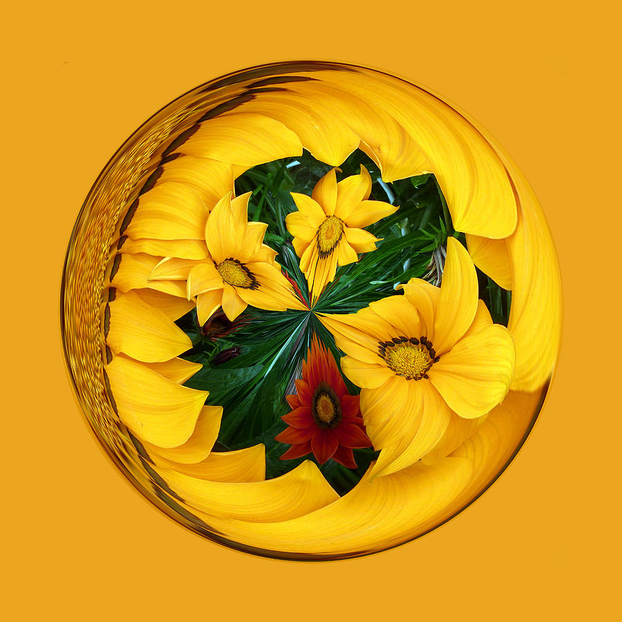 Yellow Digital Art - Summer In The Globe by Robert Gipson