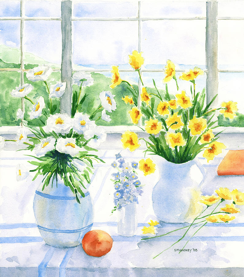 Flowers Painting - Summer Light by Susan Mahoney