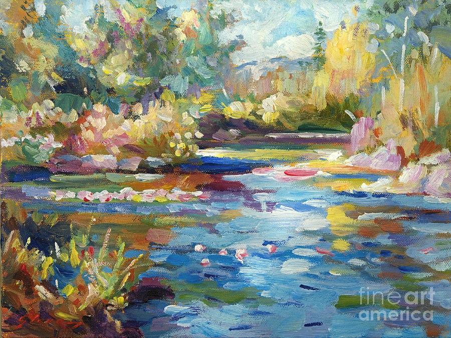 Impressionist Painting - Summer Pond by David Lloyd Glover