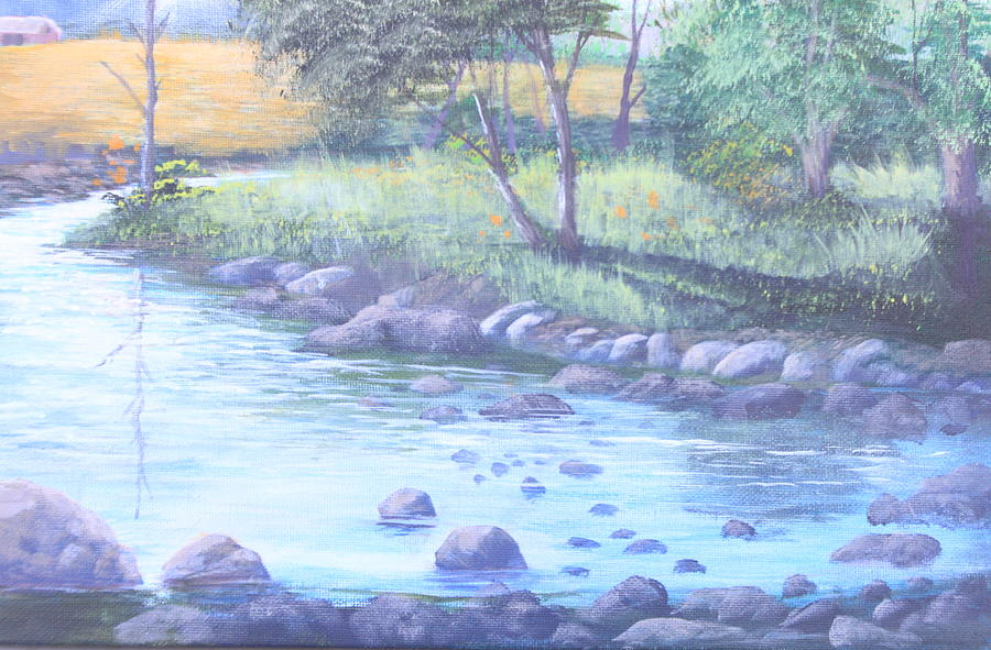 Rocks Painting - Summer River by Reggie Jaggers