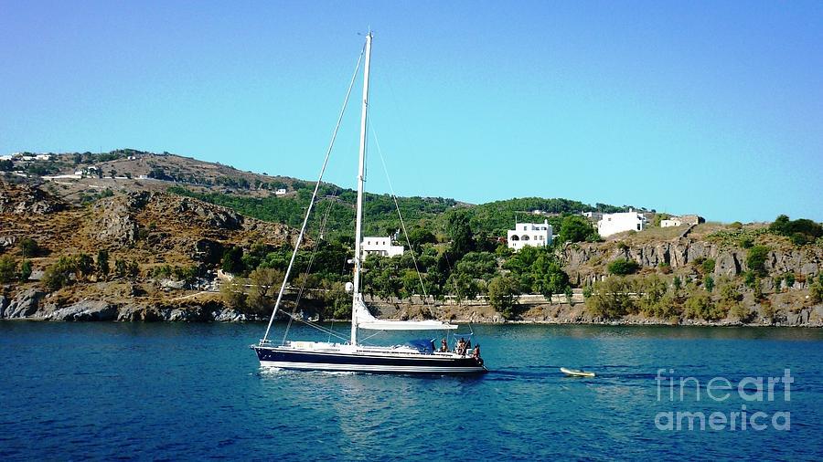 Sail Photograph - Summer Sailing by Therese Alcorn