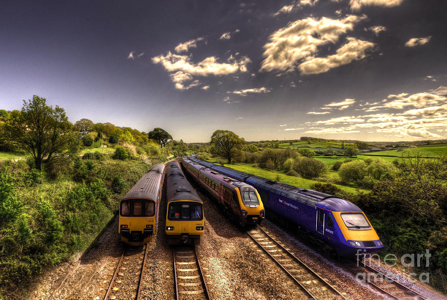 Railway Photograph - Summer Saturday At Aller Junction by Rob Hawkins