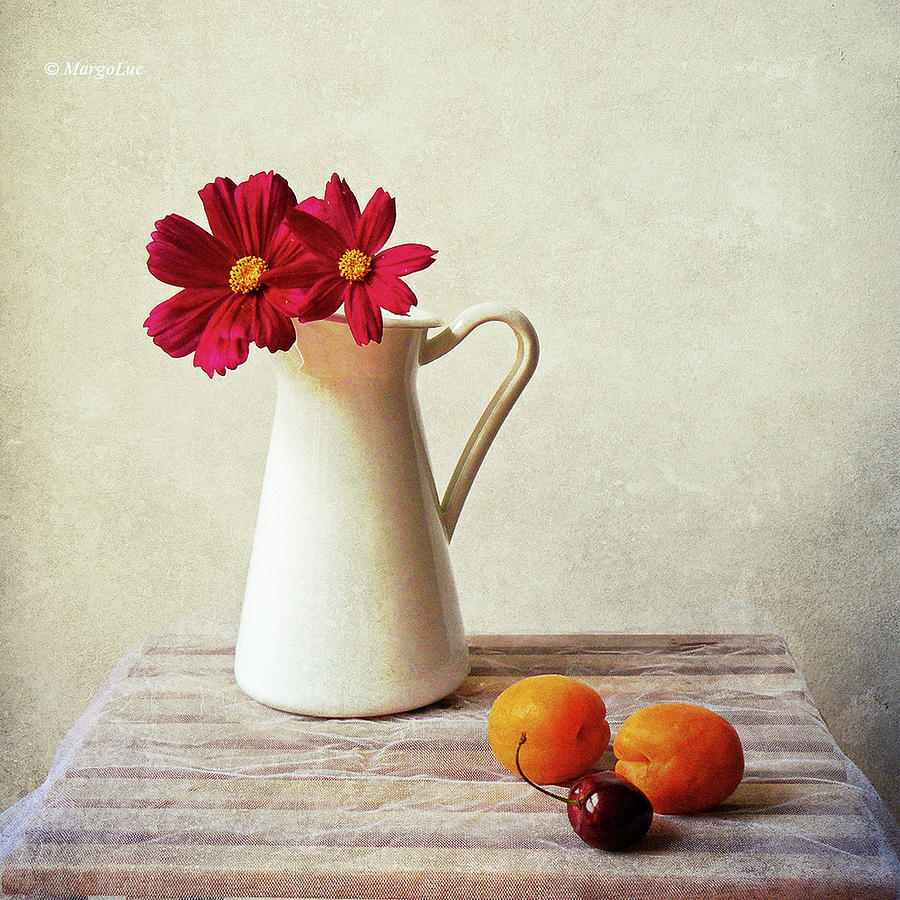 Square Photograph - Summer Still Life by by MargoLuc