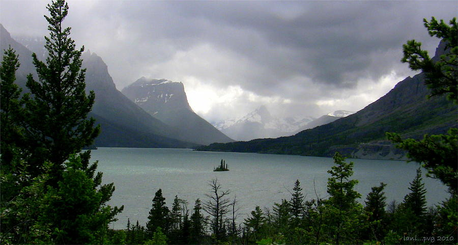 Glacier National Park Photograph - Summer Storm Over Wild Goose Island by Lani PVG   Richmond