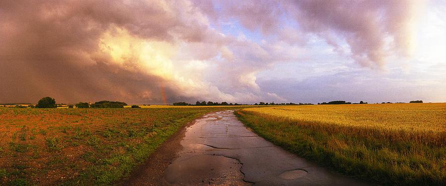 Award Winner Photograph - Summer Storm Raf Lavenham by Jan W Faul