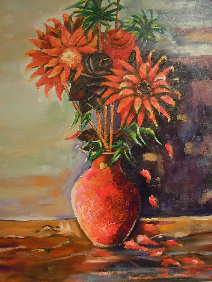 Summer Time Painting - Summer Time by Michael Echekoba