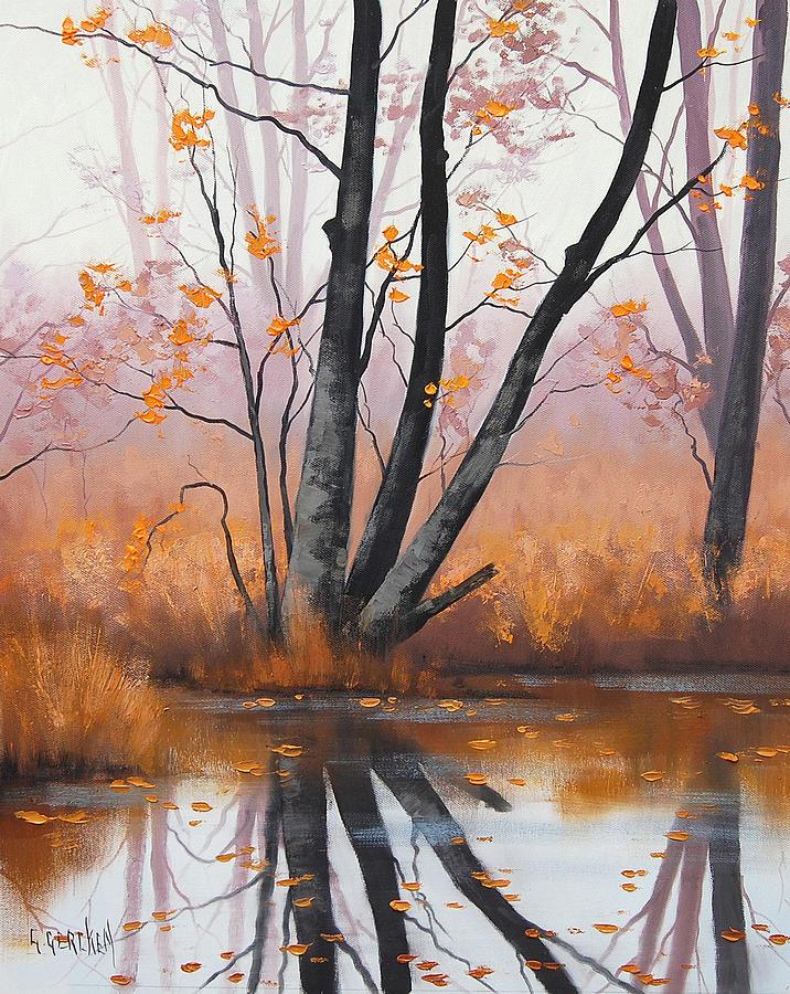 River Painting - Summer Tones by Graham Gercken