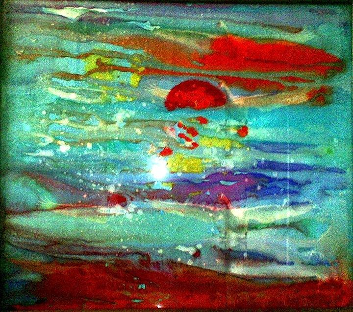 Sun Painting - Sun and Sea.. by Rooma Mehra