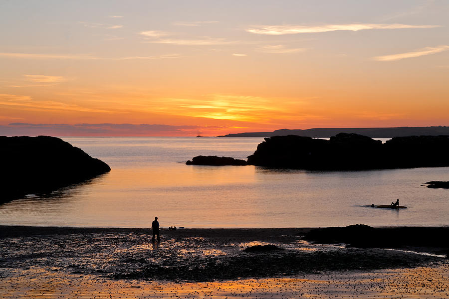 Acrylic Photograph - Sun And Surf by Gary Finnigan