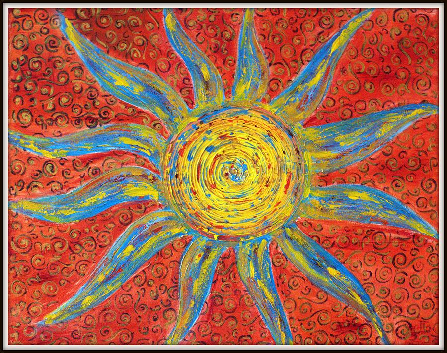 Sun Painting - Sun by Ankita Ghosh