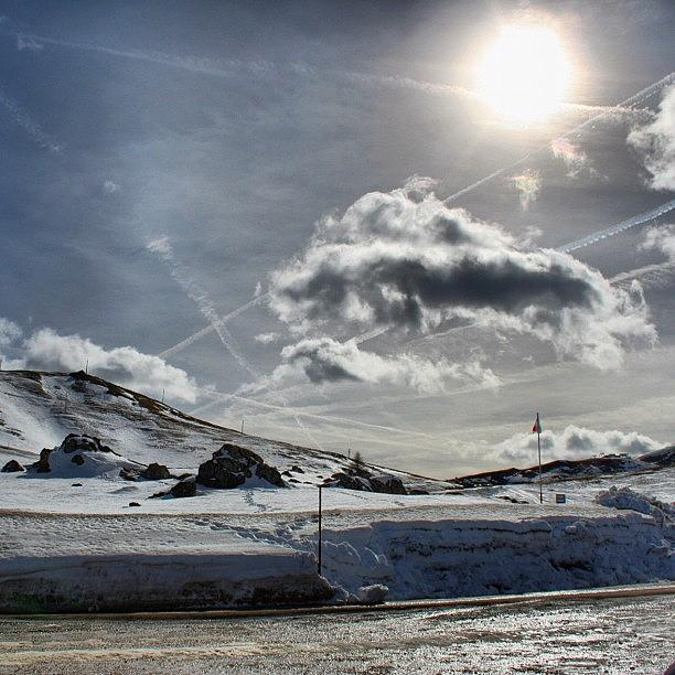 Mountain Photograph - Sun, Clouds And Snow by Luisa Azzolini