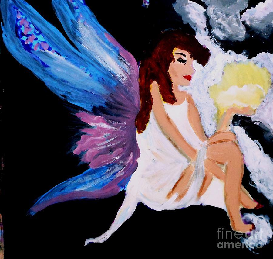 Fairy Painting - Sun Fairy by Marie Bulger