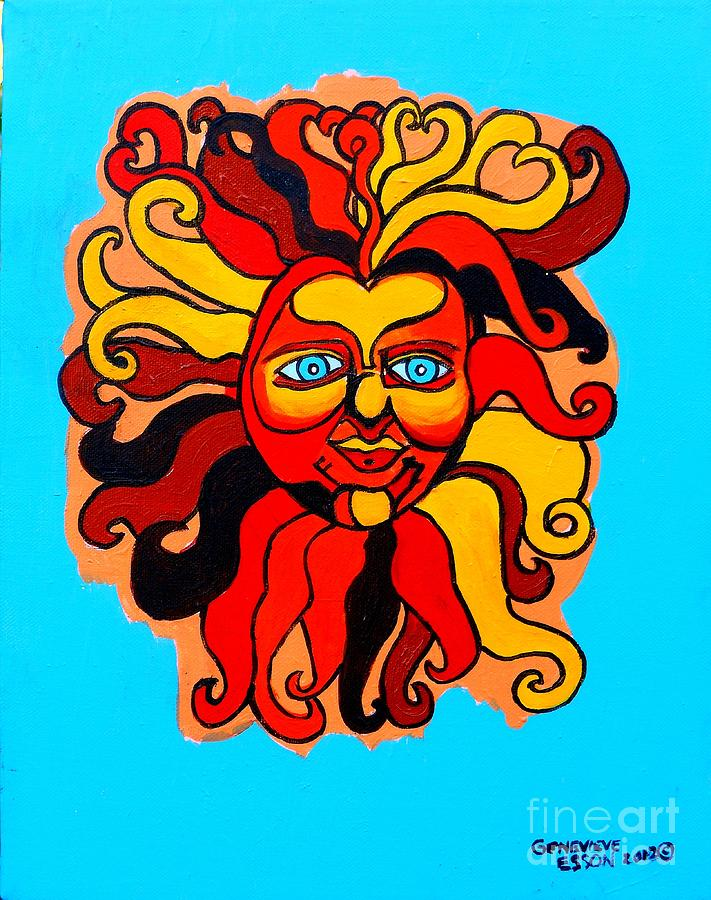 Sun Painting - Sun God II by Genevieve Esson