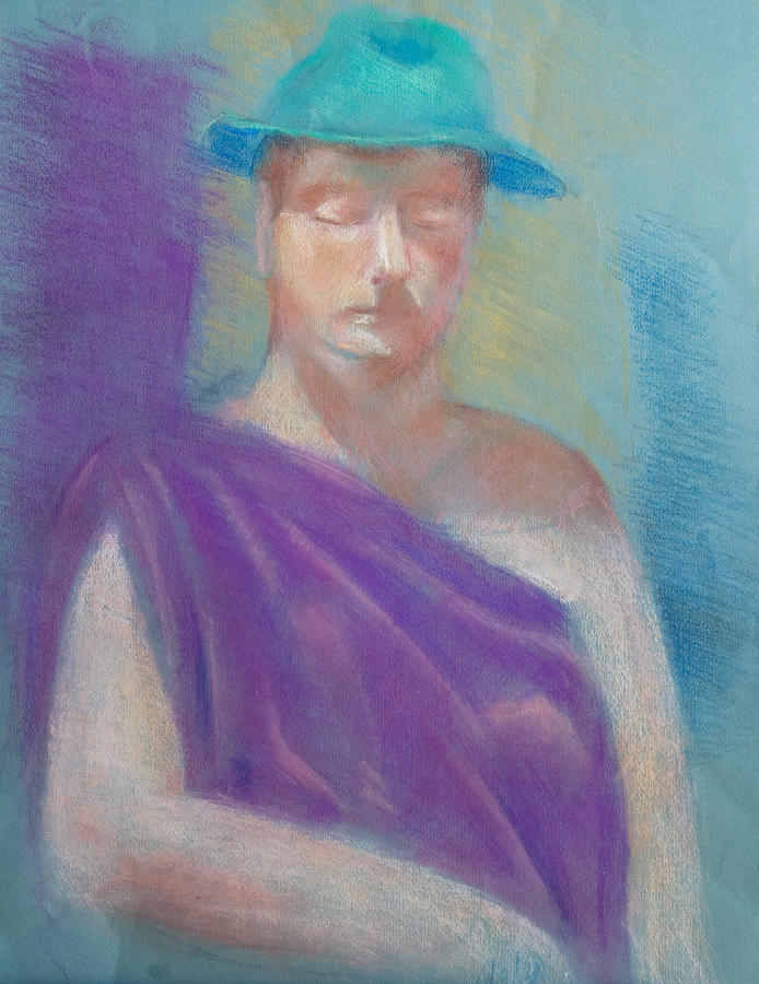 Woman Pastel - Sun Hat by Joanna Gates
